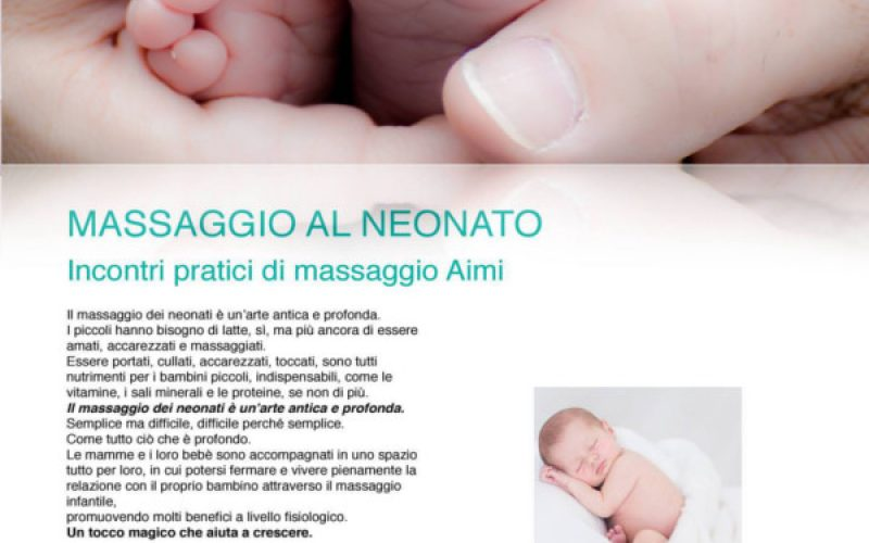 Massaggio neonatale: relax mamma e bambino