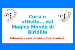 Corsi e attività magico mondo di Biridilla!