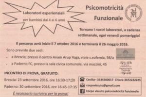 Psicomotricità Funzionale, incontro di prova @ sala civica Paderno | Paderno Franciacorta | Lombardia | Italia
