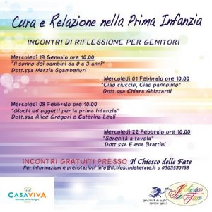 Cura e relazione nella prima infanzia @ Il Chiosco Delle Fate | Brescia | Lombardia | Italia