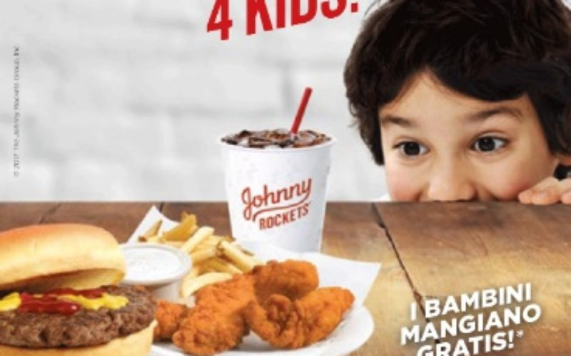 Johnny Rockets Special days. It's time 4 kids – I bambini mangiano gratis