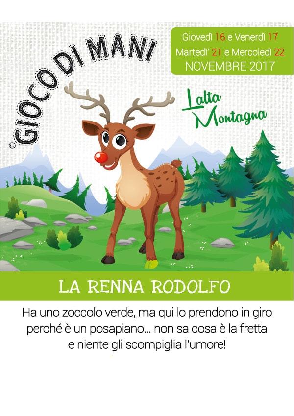 Gioco di Mani - La Renna Rodolfo @ Il Nano e la Mela | Gussago | Lombardia | Italia