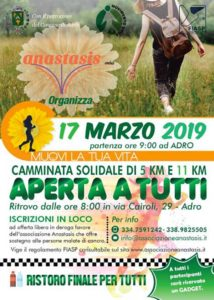 Muovi la tua vita: camminata solidale @ ritrovo: via Cairoli Adro | Adro | Lombardia | Italia