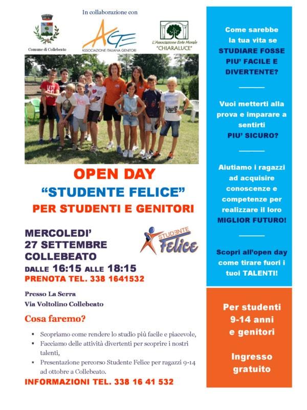 Open Day Studente Felice -  Collebeato @ Collebeato - La Serra | Collebeato | Lombardia | Italia