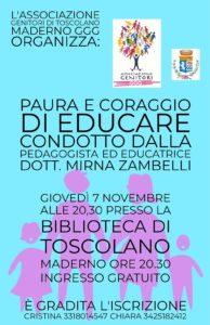 Paura e coraggio di educare @ Biblioteca di Toscolano Maderno | Cunettone | Lombardia | Italia