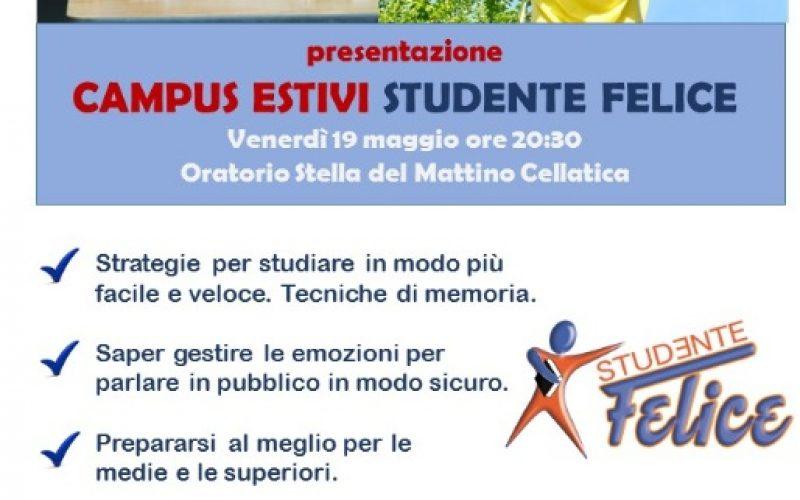 Presentazione Campus estivi Studente Felice
