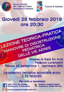 Serata informativa sulle manovre di disostruzione @ Palazzo Lorenzetti Gambara | Brescia | Lombardia | Italia