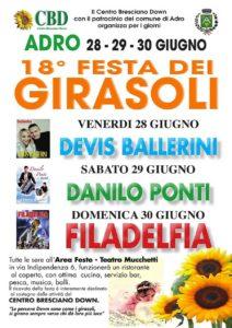 Festa dei girasoli @ Area feste - teatro Mucchetti Adro | Cologne | Lombardia | Italia