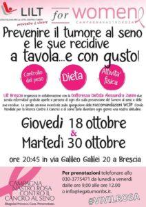 Con il rosa c'è più gusto - Prevenire il tumore al seno a tavola @ Brescia | Brescia | Lombardia | Italia