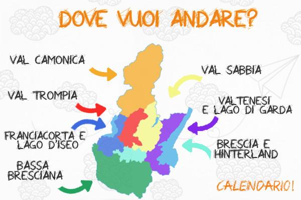 Mappa delle zone della provincia di Brescia per trovare subito gli appuntamenti