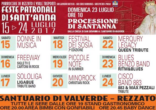 Feste patronali di Sant'Anna @ Santuario della Madonna di Valverde | Rezzato | Italia