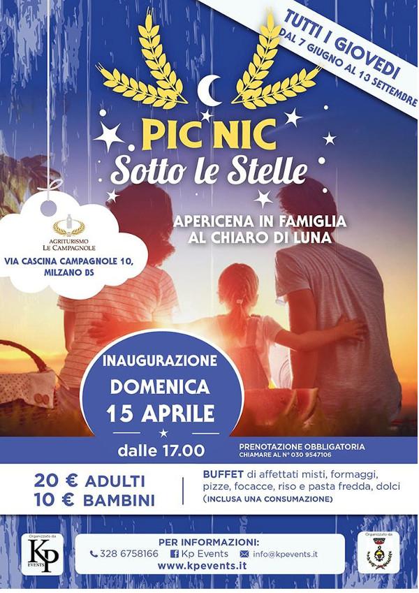 Pic-nic sotto le stelle @ agriturismo Le Campagnole | Milzano | Italia
