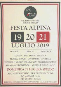 Festa Alpina a Ome @ Sede gruppo Alpini di Ome   Rovato   Lombardia   Italia