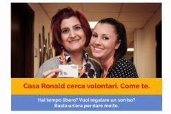 Casa Ronald Brescia cerca volontari. Come Te.