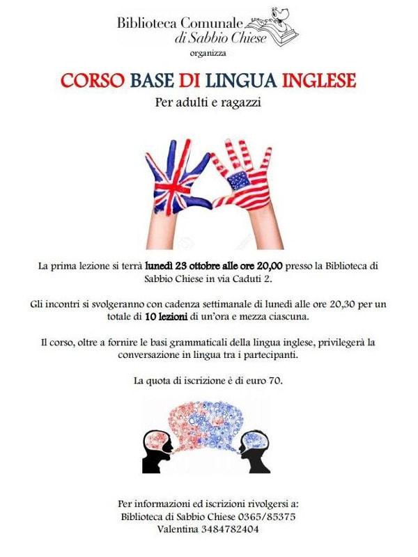 Corso base inglese a Sabbio Chiese @ Biblioteca Sabbio Chiese | Sabbio Chiese | Lombardia | Italia