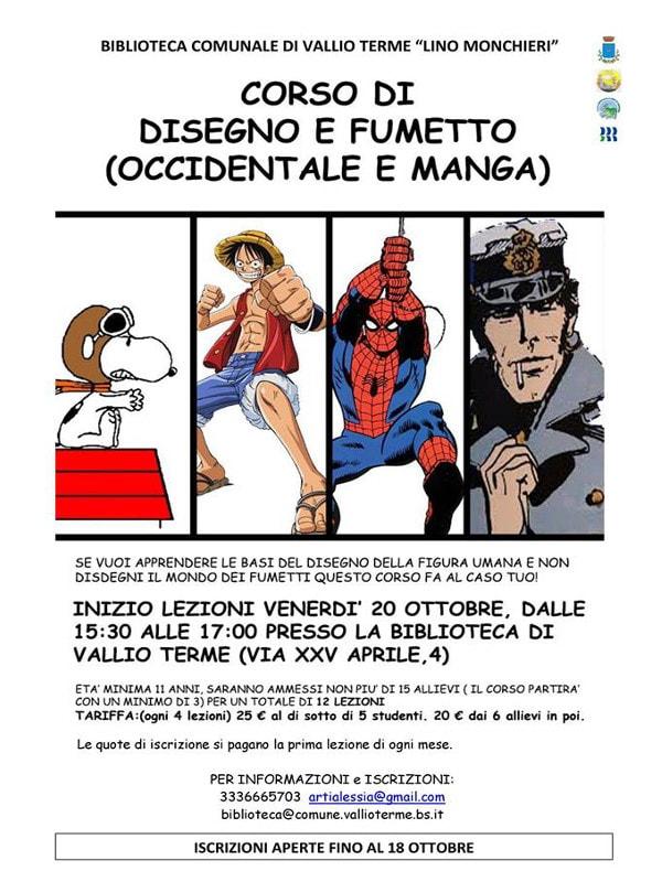 Corso di Fumetto e Disegno @ Biblioteca Vallio Terme | Case Nuove | Lombardia | Italia