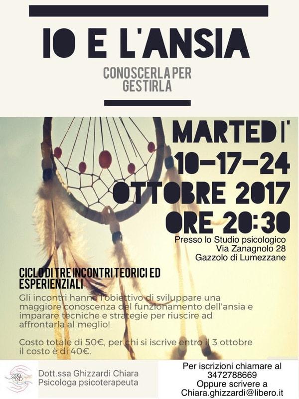 Io e l'ansia @ Studio psicologico Ghizzardi | Lumezzane | Lombardia | Italia