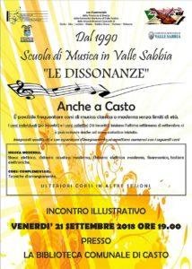 Open day Le Dissonanze [Casto] @ biblioteca Casto | Casto | Lombardia | Italia