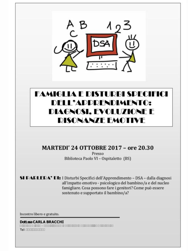 DSA e i genitori @ Biblioteca Paolo VI - Ospitaletto (BS) | Ospitaletto | Lombardia | Italia