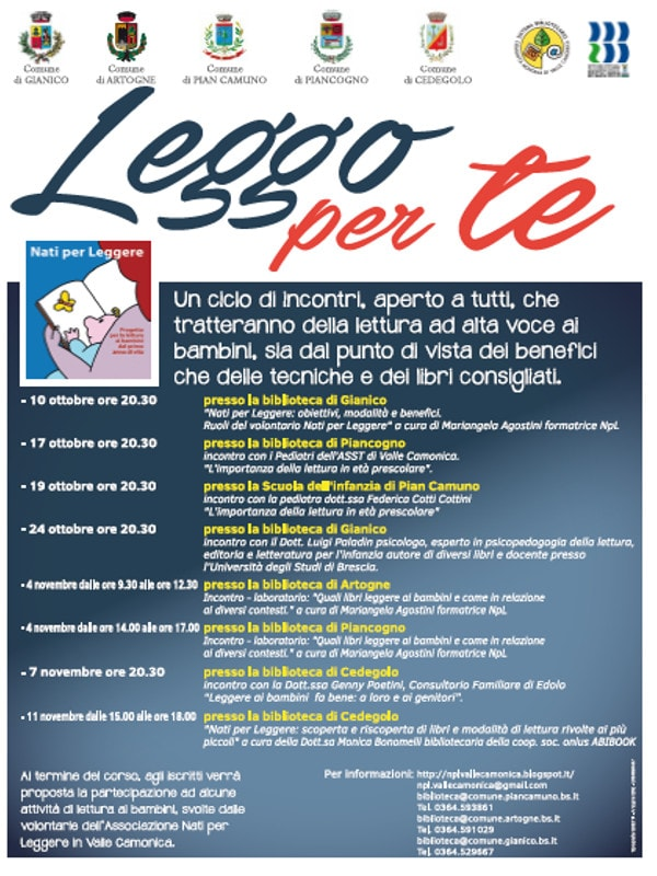 Leggo io per te @ biblioteca di Gianico | Gianico | Lombardia | Italia
