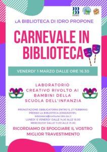 Carnevale creativo in Biblioteca @ Biblioteca di Idro | Crone | Lombardia | Italia