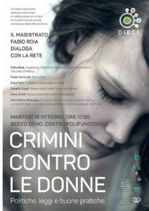 Crimini contro le donne @ Centro Polifunzionale di Berzo Demo | Berzo | Lombardia | Italia