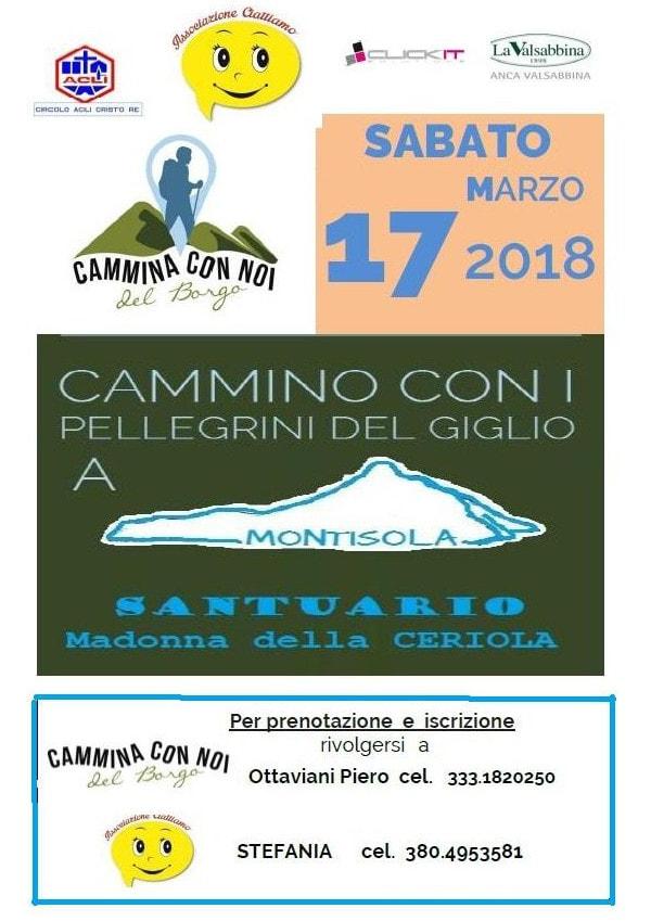 Cammina con noi fino a Montisola @ ritrovo presso Il Folle Volo | Brescia | Lombardia | Italia