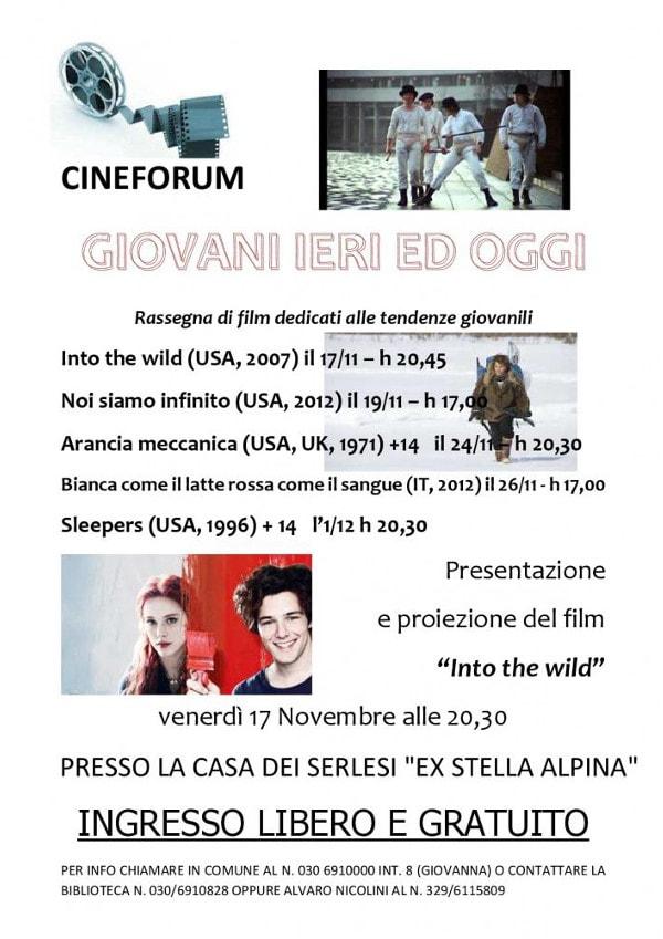 Giovani ieri e oggi - Cineforum a Serle @ Comune di Serle | Serle | Lombardia | Italia