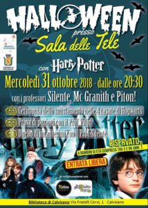 Halloween...con Harry Potter @ Sala delle Tele - Calvisano | Calvisano | Lombardia | Italia