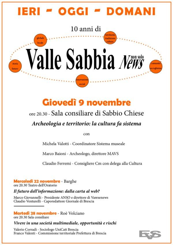 Ieri, oggi, domani in Val Sabbia @ Val Sabbia- vedi locandina