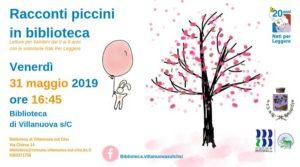 Racconti piccini in biblioteca a Villanuova @ Biblioteca Villanuova | Villanuova Sul Clisi | Lombardia | Italia