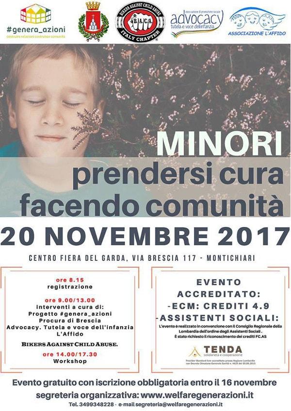 Minori: prendersi cura facendo comunità @ Centro Fiera del Garda | Montichiari | Lombardia | Italia