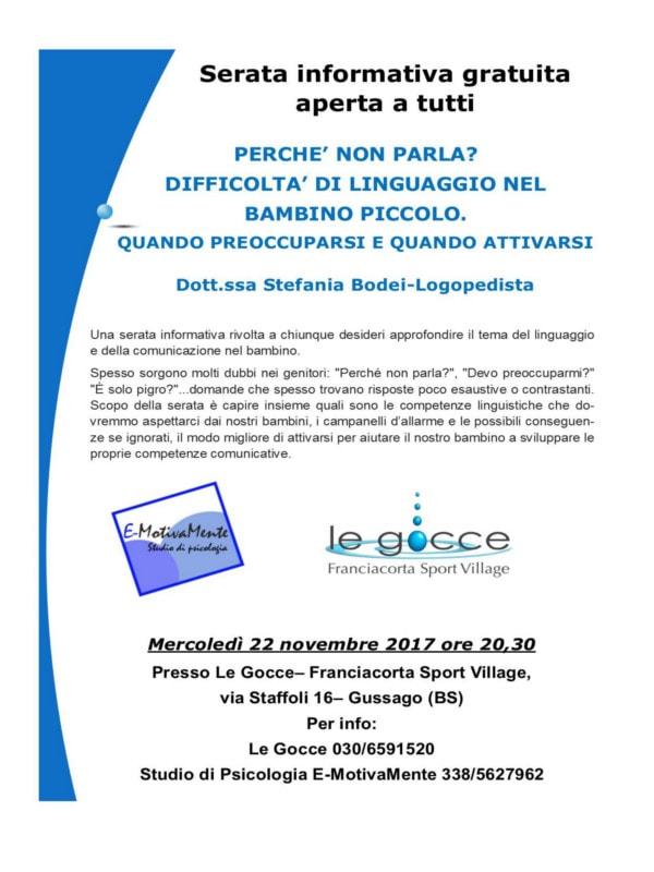 Perchè non parla? @ Centro Le Gocce | Gussago | Lombardia | Italia