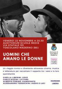 Uomini che amano le donne @ Auditorium scuole medie | Muratello | Lombardia | Italia