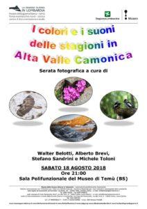 I colori e i suoni delle stagioni in Alta Valle Camonica @ Sala Polifunzionale del Museo di Temù | Temù | Lombardia | Italia