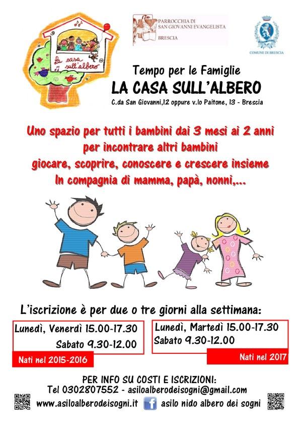 Open day del tempo famiglie La casa sull'Albero @  asilo La casa sull'Albero | Brescia | Lombardia | Italia