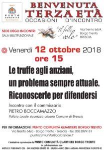 Truffe domestiche  agi anziani @ Punto Comunità Quartiere Borgo Trento | Brescia | Lombardia | Italia