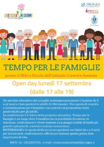 Open day Crescere Assieme - Tempo per le Famiglie @ Asilo Nido Crescere Assieme | Brescia | Lombardia | Italia