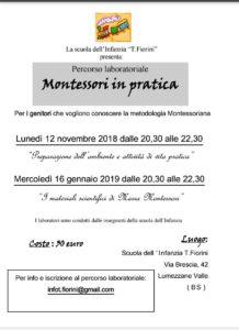 Montessori in pratica a Lumezzane @ Scuola Infanzia Fiorini Lumezzane | Lumezzane | Lombardia | Italia