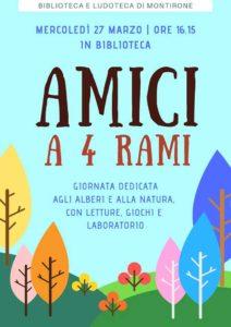Amici a 4 rami in biblioteca a Montirone @ biblioteca Montirone | Montirone | Lombardia | Italia