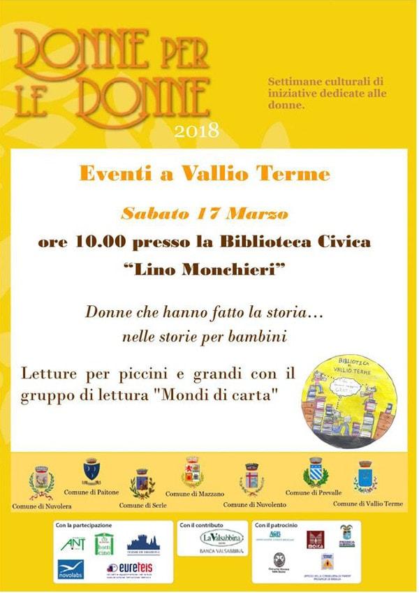 Donne per le donne - Vallio Terme @ Biblioteca di Vallio Terme | Case Nuove | Lombardia | Italia