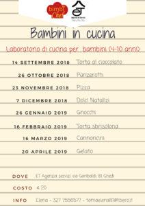 Laboratori di cucina  per bambini BimbiChef a Ghedi @ ET Agenzia servizi dott.ssa Toma Elena | Ghedi | Lombardia | Italia