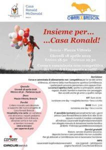 Insieme per Casa Ronald @ ritrovo Piazza Vittoria | Brescia | Lombardia | Italia