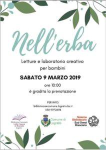 Marzo alla Biblioteca di Lograto @ Biblioteca di Lograto | Lograto | Lombardia | Italia