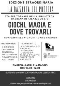 Giochi, magia e dove trovarli @ Biblioteca di Palazzolo | Palazzolo sull'Oglio | Lombardia | Italia