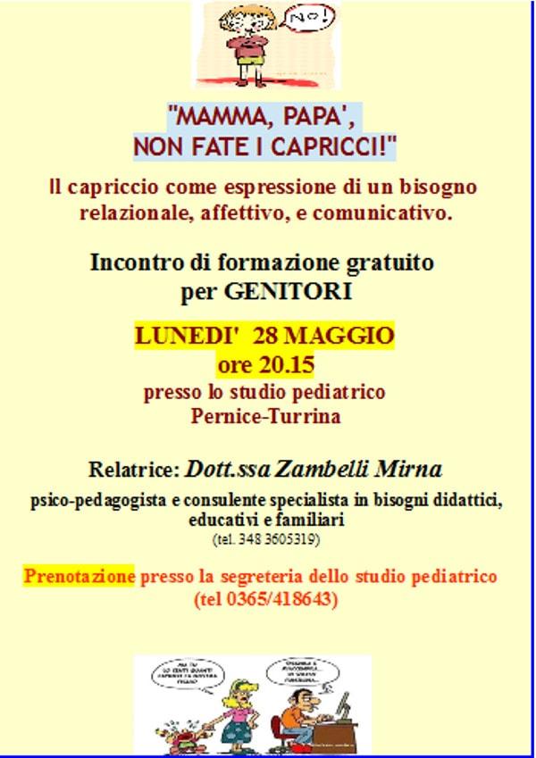 Mamma, papà, non fate i capricci! @ studio pediatrico Pernice-Turrina | Salò | Lombardia | Italia