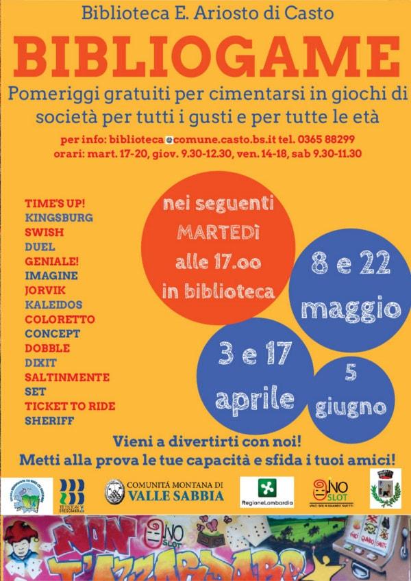 Bibliogame a Casto @ Biblioteca di Casto | Casto | Lombardia | Italia