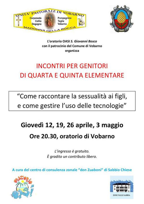 Incontri per genitori a Vobarno @ oratorio Vobarno | Vobarno | Lombardia | Italia