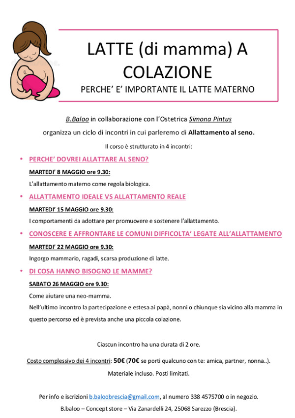 Latte ( di mamma) a colazione @ B.Baloo | Sarezzo | Lombardia | Italia