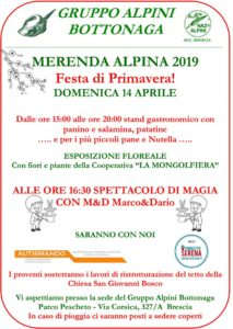 Merenda alpina al Parco del Pescheto @ Parco pescheto Brescia  | Brescia | Lombardia | Italia